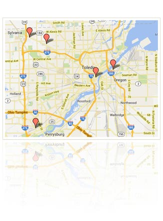Map of Packo's Restaurant Locations