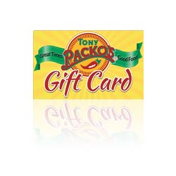 Red Tony Packo's Gift Card
